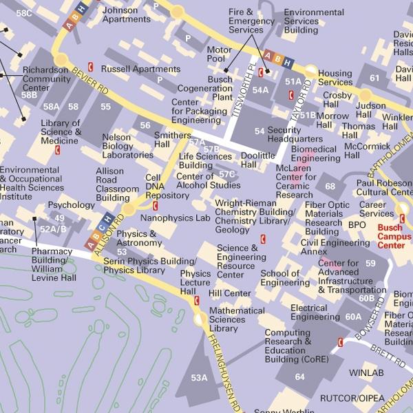 Busch Campus Map | compressportnederland